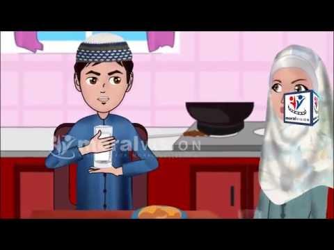 Abdul Bari Muslims Islamic Cartoon for children - Drinking Milk importance & dua - English
