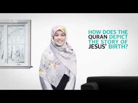 How does the Quran depict the birth of Jesus? - English