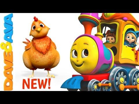 🐄 Farm Animals Train | Learn Farm Animals & Animal Sounds | Educational Videos - English