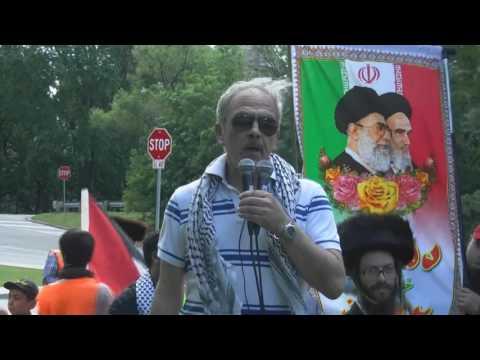 Br Manuel Luna Hugo Chavez Defense Front at Toronto Al-Quds Day Rally 2017