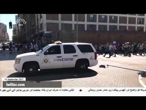 [16Sep2017] سیاہ فام امریکی نوجوان کے قاتل پولیس اہلکار کی بریت کے خلاف