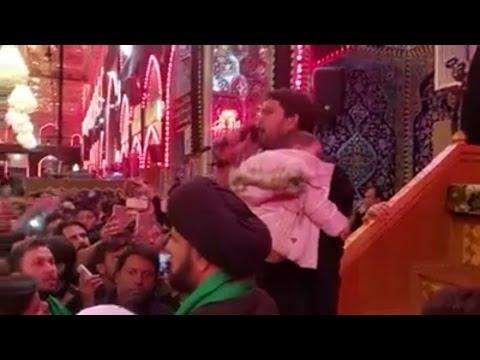 Farhan Ali Waris | Live Nauhakhwani In Karbala, Iraq - Urdu