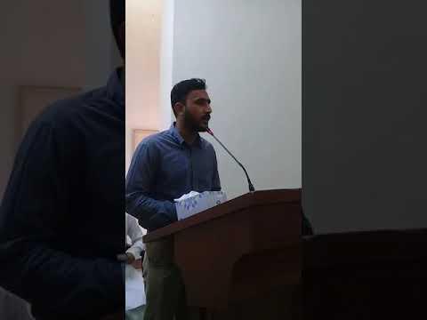 [Hussain Day at Sindh Agriculture University] Address by Qamar Abass Ghaderi-Urdu