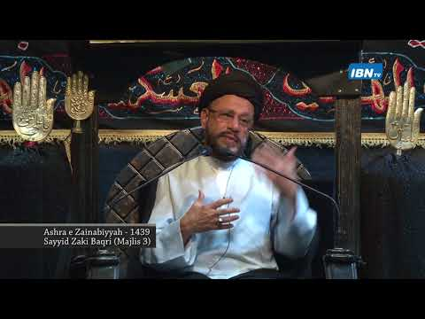 03 Majlis Ashra-E-Zainabiyyah Safar 1439 Hijari 2017 Topic: Insight بصیرت By Allama Syed Mohammad Zaki Baqri - Urdu