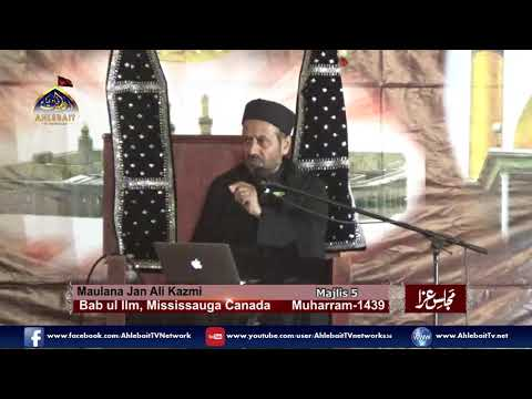 Maulana Jan Ali Shah Kazmi - 5th of Muharram, 2017 Majlis at Bab ul Ilm, Mississauga - Urdu