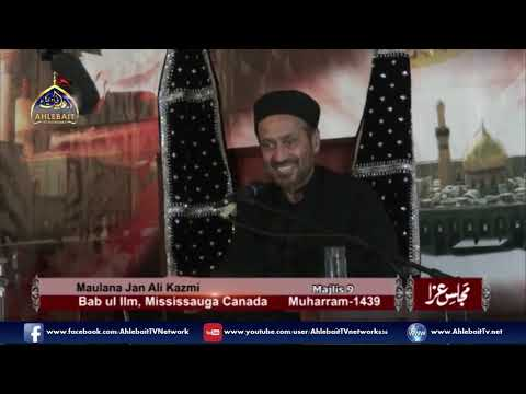 Maulana Jan Ali Shah Kazmi - 9th of Muharram, 2017 Majlis at Bab ul Ilm, Mississauga - Urdu