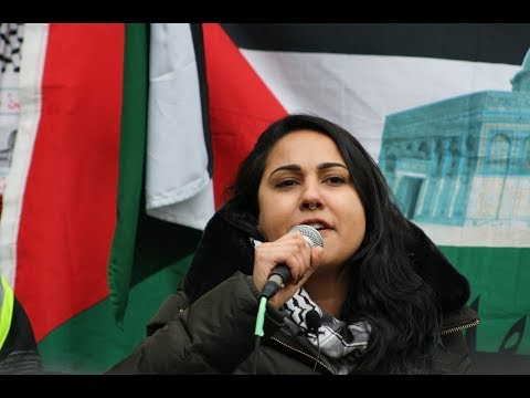 Sarah Ali (SAFE) Speaking at Toronto Hands Off Jerusalem Al-Quds Rally Dec.09 2017 - English