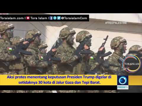 [Clip] Pawai Akbar Hamas Menentang Putusan AS - Farsi sub Malay