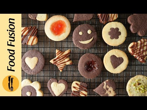 [Quick Recipes] Assorted Cookies (Bakery style butter biscuits) - English Urdu
