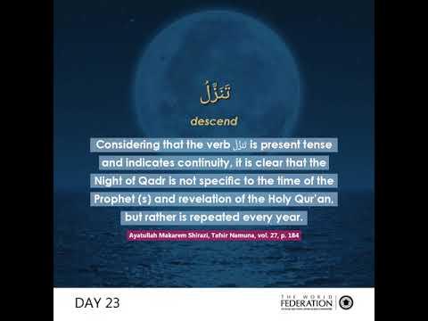 Day 23 #FeedYourSoul : The Night of Qadr A New Beginning - English