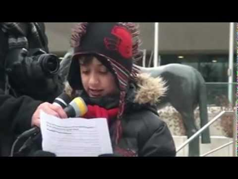 Speech By Jaffer Abbas- 18th February 2013- Calgary Protest For Genocide In Pakistan - English