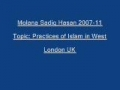 Sadiq Hasan Practices of Islam in West 2007 11 - Urdu