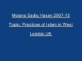 Sadiq Hasan Practices of Islam in West 2007 13 - Urdu