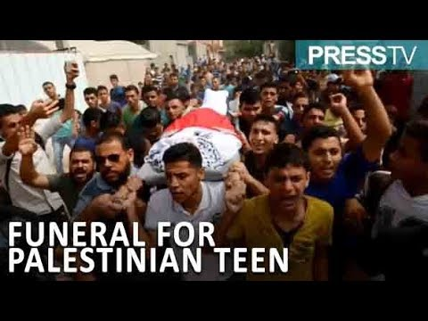 [9 September 2018] Gazans hold funeral for Palestinian teen killed by Israeli forces - English