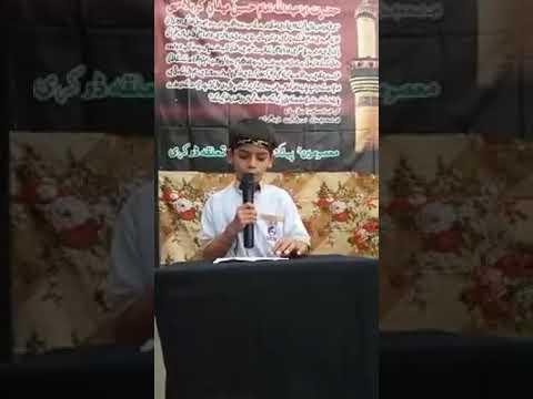 [Hussain Day 1440 Hijra at MPS Badah] O My Asghar Mudasir Ali -English
