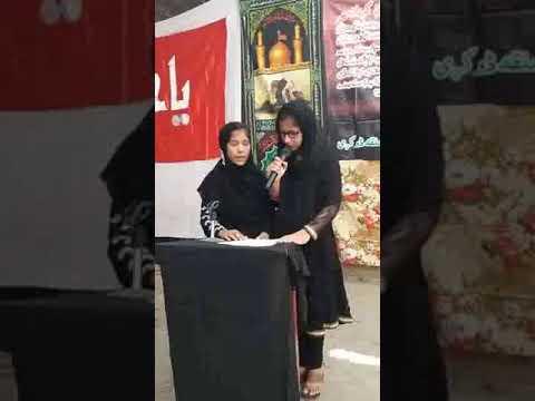 [Hussain Day 1440 Hijra at MPS Badah] Noha- Matam Sarwar Na Rukega By Asia and Rahat Kandhro -urdu