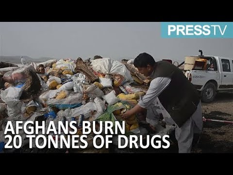 [24 September 2018] 20 tonnes of drugs go up in smoke in Afghanistan - English