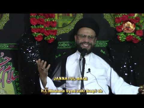 1st Majlis-E-Aza 2nd Safar 1440 Hijari 12 Oct 2018 Topic: Let\'s Understand Our Children By HI Zaki Baqri - Urdu