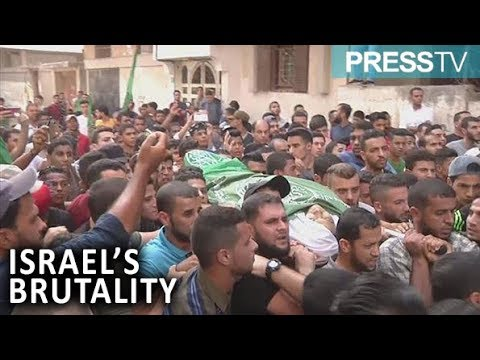 [25 October 2018] Palestinians in Gaza bury another young victim of Israel's brutality - English