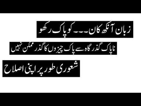 Zabaan Aankh Kaan ko Pak Rakho-Urdu