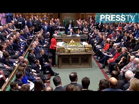 [13 March 2019] UK parliament rejects May\'s EU deal again - English