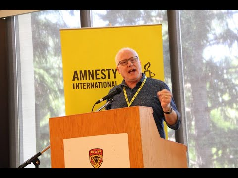Ottawa Mark 4th year of Saudi war on Yemen Br Alex Neve Amnesty International at Paliament Hill Ottawa Canada - English