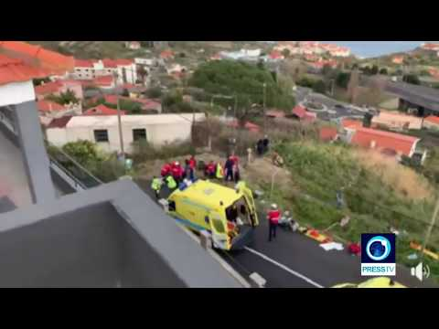 [20 April 2019] Portugal: At least 29 killed in Madeira tourist bus crash - English