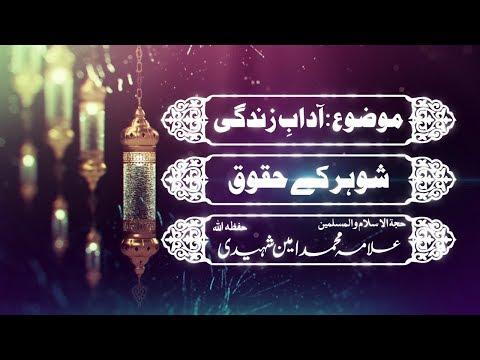 شوہر کے حقوق|علامہ امین شہیدی حفظہ اللہ - Urdu