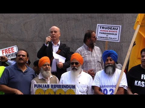 Stephen Ellis Addressing to Kashmir Solidarity Rally Toronto 18Aug2019 - English