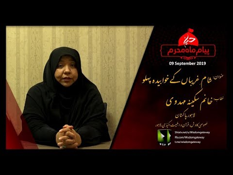 [Speech] Sham e Gareeban ke Khwabidah Pehlu   شامِ غریباں کے خوابیدہ پہلو   Khanam Sakina Mehdvi