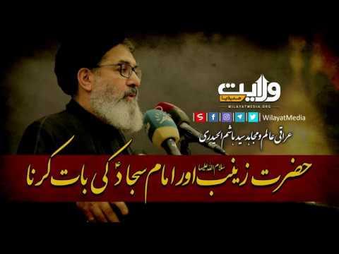 حضرت زینب سلام اللہ علیہا اور امام سجادؑ کی بات کرنا | Arabic Sub Urdu
