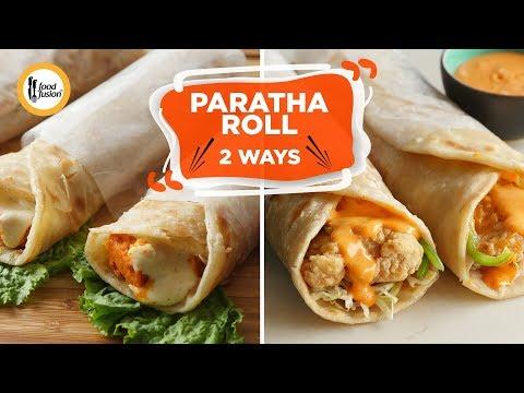 [Quick Recipe] Paratha Rolls 2 Ways - English Urdu