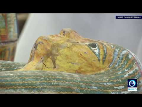 [20/10/19] Egypt unveils biggest ancient coffin find in over a century - English