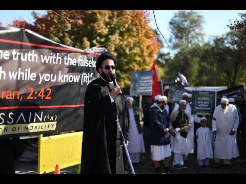 Moulana Syed Alaideen - Arbaeen Walk Toronto Oct  20, 2019 - English