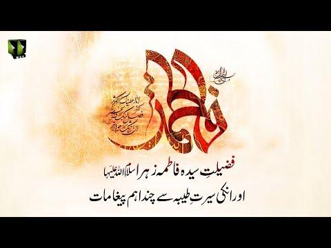 [Clip] Fazilat-e-Syeda Fatima Zehra (sa) Or Unke Hayat e Tayyaba Say Aham Paighamaat - Urdu
