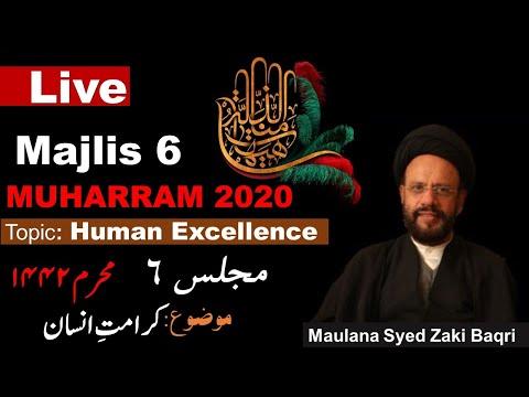 [6] Human Excellence | Maulana Syed Muhammad Zaki Baqri [Ashra Majalis Aza 1442] - Urdu