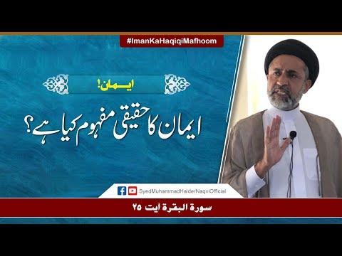 Iman Ka Haqiqi Mafhoom Kya Hay? || Ayaat-un-Bayyinaat || Hafiz Syed Muhammad Haider Naqvi