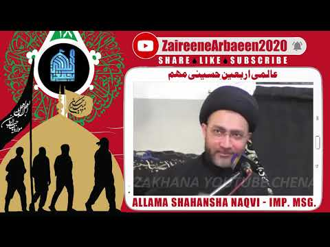 Clip | Aalami Zaireene Arbaeen 2020 | Moulana Shahansha Hussain Naqvi |  Ajj Arbaeen Aik Qoumi Wajib - Urdu