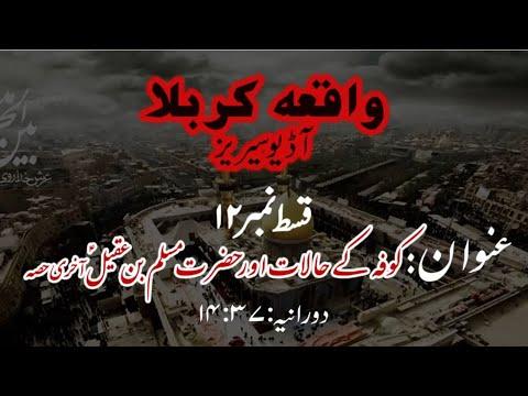 [12]Kufa ke Halaat aur Hazrat Muslim bin Aqeel a.s Last Part | Maulana Muhammad Nawaz - Urdu