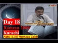Ali Murtaza Zaidi-18Ramadhan2009 Karachi-Attain Taufeeq to Sacrifice in the Path of Imam Ali AS-Urdu