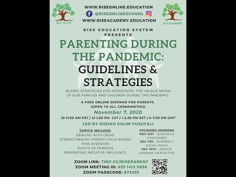 Parenting in the Pandemic: Guidelines and Strategies | Shaykh Salim Yusufali | Nov.07 2020 | English