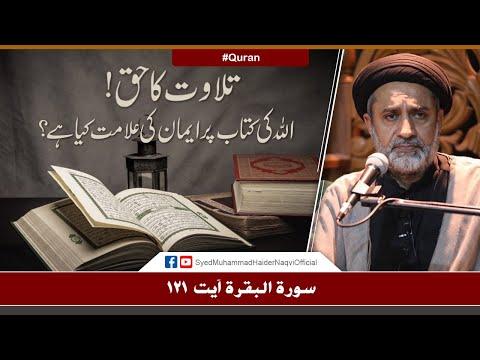 Tilawat Ka Haq! || Ayaat-un-Bayyinaat || Hafiz Syed Muhammad Haider Naqvi