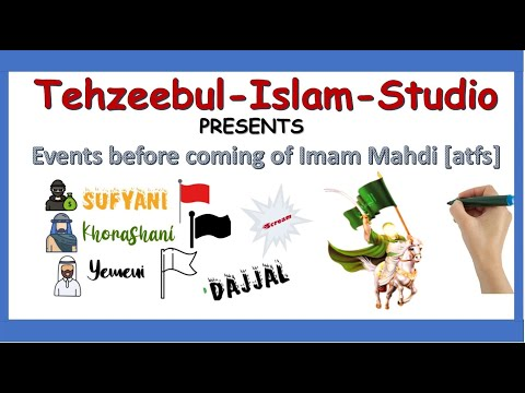 The Events Before The Coming Of Imam Mahdi|Imam mahdi|Hazrat mahdi zahoor|Whiteboard Animation - English