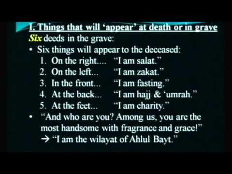 [ Lesson IV] Barzakh: Do Souls Visit Family?; Questioning in the Grave - Maulana Syed Rizvi | English