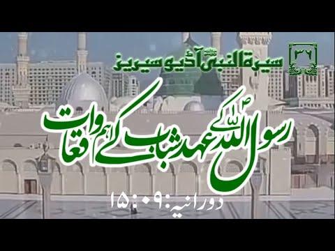 [36]Topic: Major Occurences of Young age of Holy Prophet PBUH | Maulana Muhammad Nawaz - Urdu