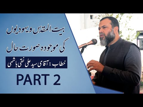 Discussion About Palestine & Israel Current Situation || Syed Ali Naqi Hashmi || Part 2 - Urdu