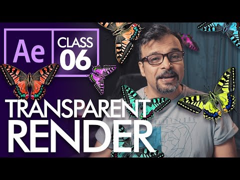 How to Render Transparent Video in After Effects Class 6 - اردو /  हिंदी