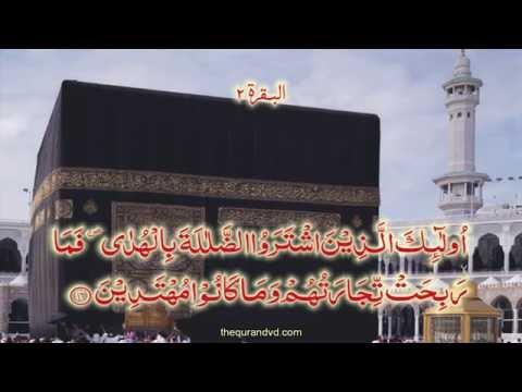 Chapter 2  Al Baqarah| HD Quran Recitation By Qari Syed Sadaqat Ali - Arabic