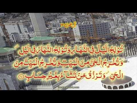 Chapter 3 Al-\'Imran | HD Quran Recitation By Qari Syed Sadaqat Ali - Arabic
