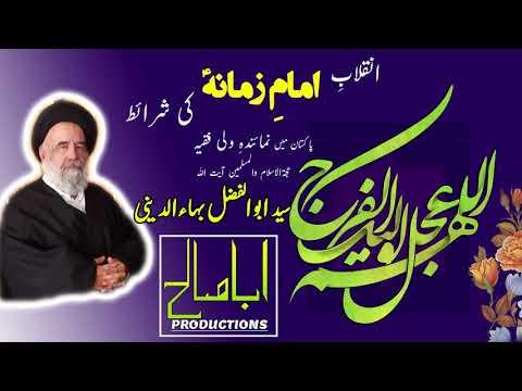 CLIP | شرائطِ انقلاب امام زمانہؑ | Part 2/4 - رہبری | H.I Syed Abul Fazl Bahauddini | Farsi sub Urdu